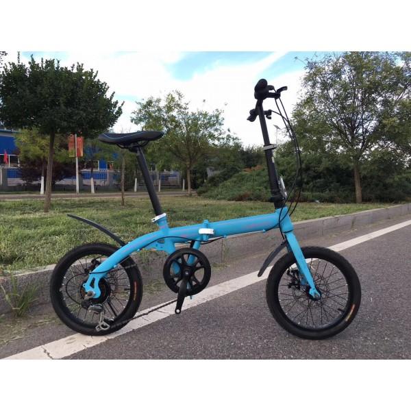 makemini Folding bicycle blue